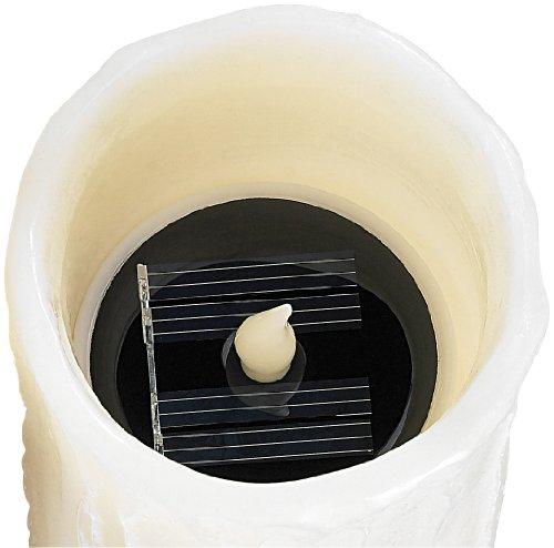 Lunartec Solar LED Echtwachs Kerze