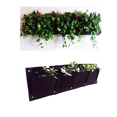 MEIWO 4 Pocket Hängende horizontale Garten-Wand-Pflanzer für Yard Garden Home Decoration