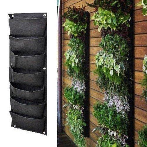 MEIWO 7 Taschen senkrechter wandmontierter pflanztasche Für Hof Garten Home Decoration
