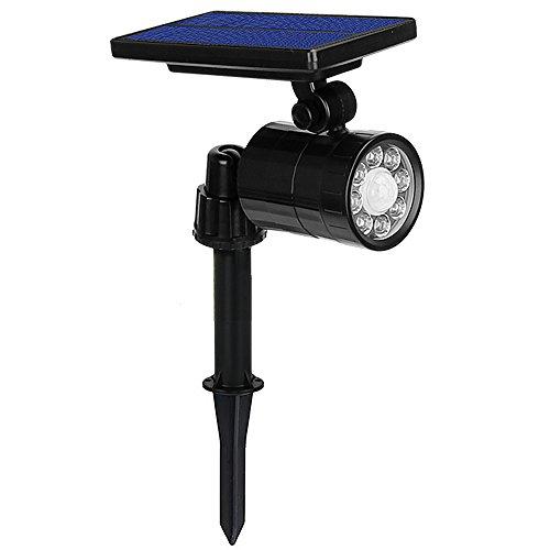 Solarleuchten 8 LED 800 Lumen Sehr Hell Gartenleuchte 4 Modi mit Bewegungsmelder Solar Licht IP65 Wasserdicht 360° Frei Rotiert ABS Großes Außenlicht für Garten Hof Garage Wand Pathway Patio