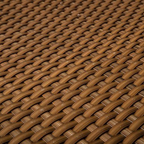 PE-Rattan Terrassen Sichtschutz Balkonbespannung cognac 09m breit Meterware