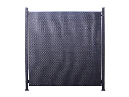 Poly-Rattan Sichtschutz  Zaun-Set 3-teilig schwarz ca 194cm Prime Tech