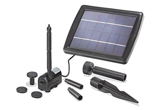 Solar Teichpumpe 2 Watt Solarmodul 175 lh Förderleistung 70 cm Förderhöhe Komplettset Gartenteich 101010