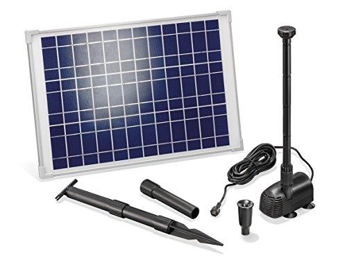 Solar Teichpumpe 20 Watt Solarmodul 1350 lh Förderleistung 19 m Förderhöhe Komplettset Gartenteich 101014