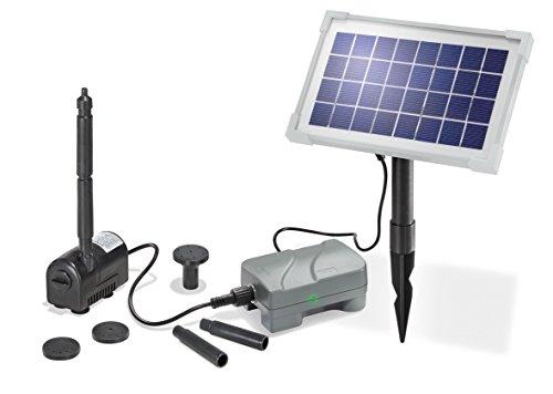 Solar Teichpumpenset Rimini plus 35W 175lh mit Akku Solarpumpe Gartenteichpumpe esotec 101709