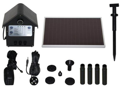 TIP Solar Teichpumpe SPS 2506 LED Beleuchtung 3 W bis 250 lh Fördermenge für Gartenteich oder Springbrunnen