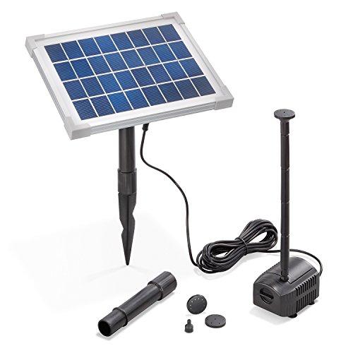 Solar Teichpumpe 5 Watt Solarmodul 250 lh Förderleistung 100 cm Förderhöhe esotec Professional Produktserie Komplettset Springbrunnen Gartenteich 101909