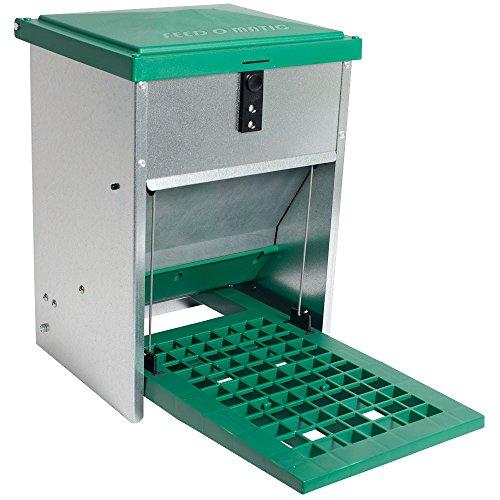Futterautomat Feedomatic 5kg mit Trittplatte für 5kg Futter Geflügel-Futterautomat Hühnertrog Futtertrog