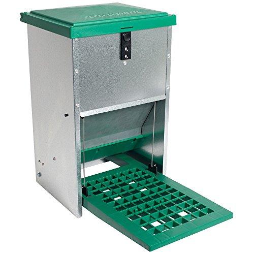 Futterautomat Feedomatic 8kg mit Trittplatte für 8kg Futter Geflügel-Futterautomat Hühnertrog Futtertrog