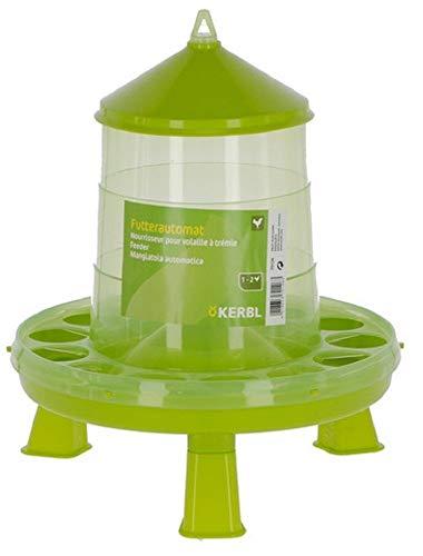Kerbl Futterautomat mit Stand-Füßen für Geflügel KükenHühnerEnten lebensmittelecht 8 kg