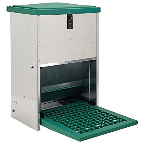 Olba Futterautomat Feedomatic 12kg mit Trittplatte für 12kg Futter Geflügel-Futterautomat Hühnertrog Futtertrog