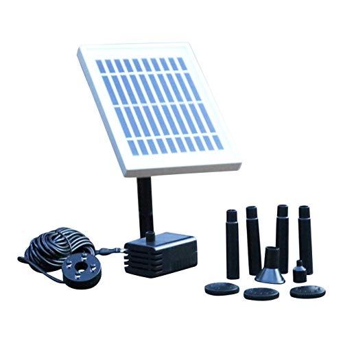 PK Green Solar Teichpumpe mit Akku  2W Solar Springbrunnen mit Akku  200 Lh Solarpumpe Wasserpumpe Klein für Außen Gartenteich Wasserfall mit LED Licht