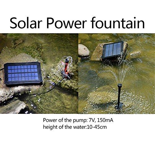 PROKTH Solar Springbrunnen mit LED-Leuchten schwimmende Wasserpumpe Solar Teichpumpe Solar für Gartenteich oder Springbrunnen Vogel-Bad Fisch-Behälter