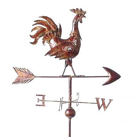 Dandibo Wetterhahn Wetterfahne 13901 Hahn aus Metall Windrad 165 cm Bodenstecker