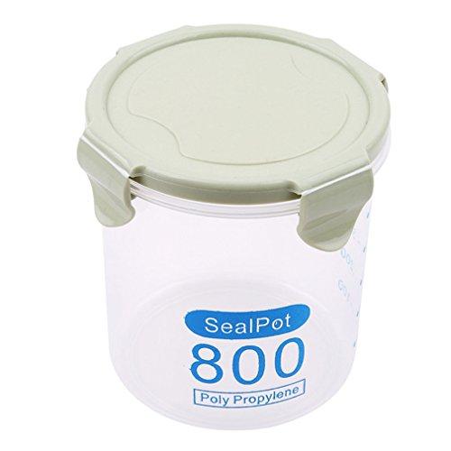 LnLyin Küche mit Verschluss-Aufbewahrung Kunststoff-Behälter mit plastik grün 800 ml