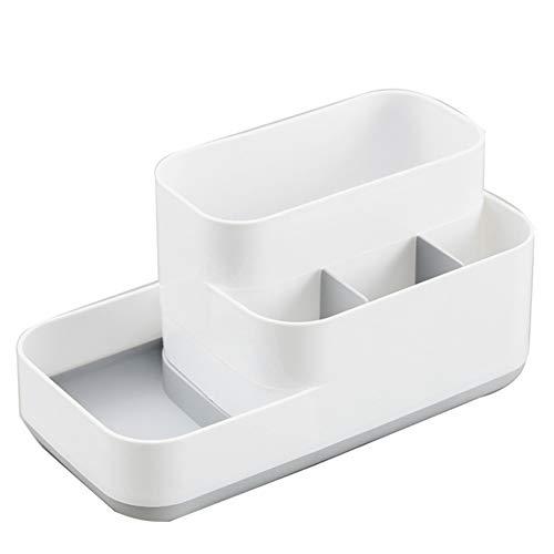 Jancery Desktop Büro Kosmetik Aufbewahrungsbox mit fünf Kunststoff Raster Make-up Organizer Box Plastik braun 221111CM
