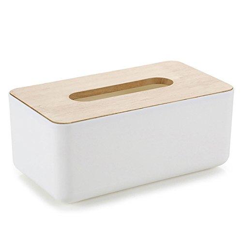 hearsbeauty Eiche Kunststoff Tissue Halter Papier Aufbewahrungsbox Fall Halter Tissue Box Cover Toilettenpapierhalter Spender für Ihr Zuhause Bad Büro und Auto plastik D