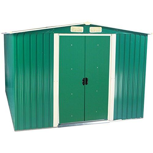 Zelsius - Gerätehaus Geräteschuppen mit Giebeldach 2 m x 25 m grün
