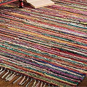 Indian Arts Fair Trade Flickenteppich Handweb 100 recycelte Materialien Mehrfarbig Textil Multi 150 x 210cm