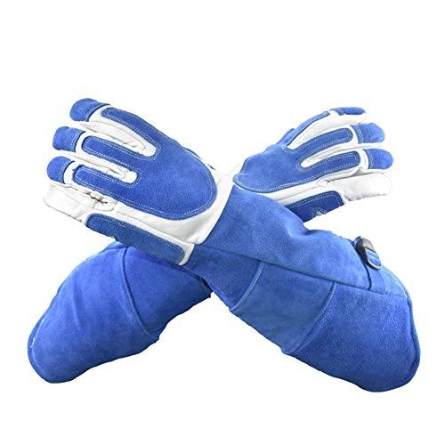 Augneveres Tierhandschuhe Anti-Biss-Kratzschutz Handschuhe für Hunde Katzen Vögel Schlange Papageien Eidechse Wildtiere Lange Schutzhandschuhe