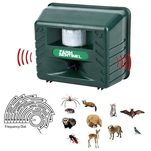 Inperix Katzenschreck Marderschreck Hundeschreck – Ultraschall Tiervertreiber Ultraschall abwehr und Blitz – Wetterfest- vertreibt wirksam Ratten Füchse und andere Wildtiere mit Bewebungssensor