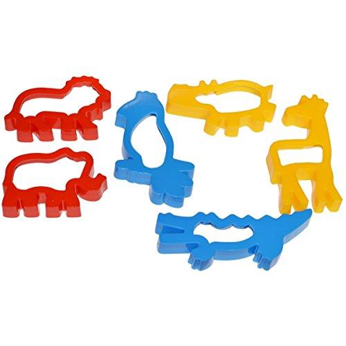 Knet Ausstechformen Tiere - Wildtiere - 6-teiliges Förmchen Set