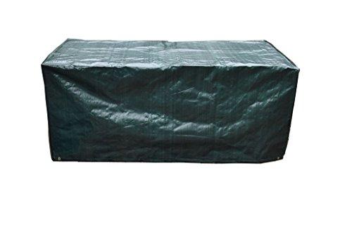PATIO PLUS Schutzhülle für Rechteckigen Gartentisch Wetterfeste Anti-UV-Terrasse Abdeckung Wasserdicht Atmungsaktive Polyester Gartenmöbel Abdeckung 170x95x70cm grün