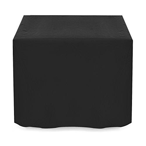Dokon Schutzhülle für Gartenmöbel Wasserdichtes Atmungsaktives Oxford-Gewebe Gartenmöbel Abdeckung Würfel 125x125x74cm - Schwarz