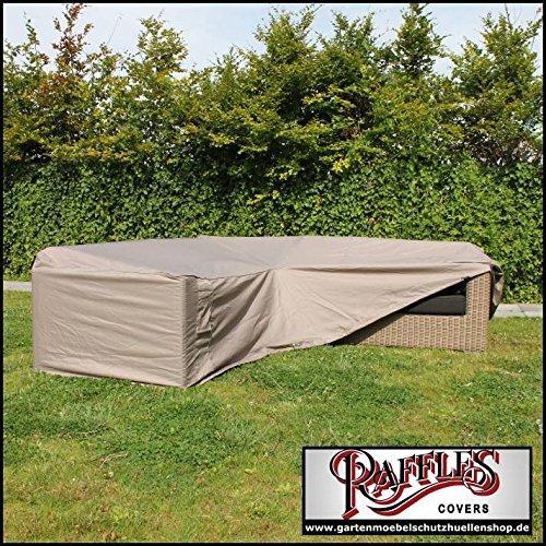 Raffles Covers Loungemöbel Abdeckplane L-Form 330 x 330 cm Abdeckung für Lounge Eckset Schutzhülle in L-Form für Lounge Sets Schutzplane Regenschutz Ecklounge