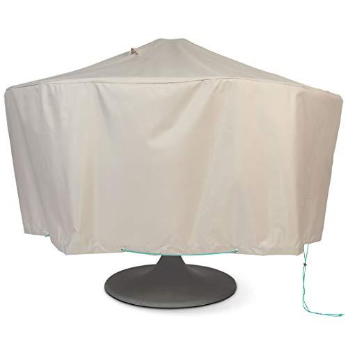 CovUp Schutzhülle für Gartentisch rund Durchmesser 160 cm x Höhe 60 cm Taupe