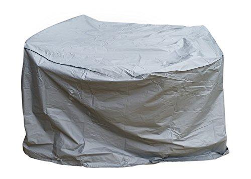 Gartenfreude Schutzhülle Deluxe mit weichem Innenvlies für Gartentisch rund grau 160x90x90 cm 4800-1012