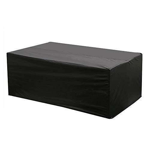 Etmury Schutzhülle für Gartenmöbel 200 x 160 x 70 cm Wasserdicht Atmungsaktiv aus Oxford-Gewebe für Tische und Sedute rechteckige rechteckige Abdeckung für UV-Schutz Schwarz