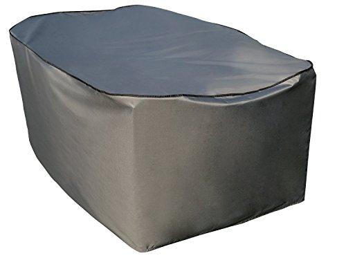 Schutzhülle  Cover für rechteckigen Tisch Set  Grau  203 x 100 x 70 cm L x B x H  Wasserabweisend  SORARA  Polyester PU Coating UV 50 Premium  Abdeckhaube Wettershutz  Regenfest  für Outdoor Garten Möbel