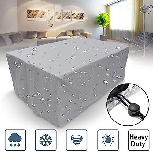 ZRB Abdeckung Für Gartenmöbel Rechteckig Wasserdicht UV Schützend Tisch- Und Stuhlbezüge Premium Schutzhülle