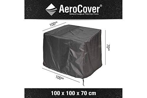 AeroCover Schutzhülle für Lounge Sessel in anthrazit aus Ripstop-Gewebe 100 x 100 x 70 cm
