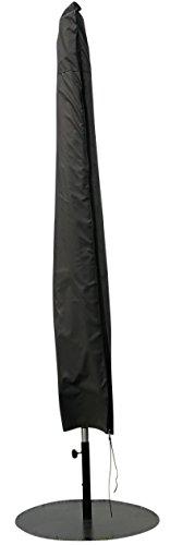 Schutzhülle  Cover für Sonnenschirm mit Mittelstange Ø 200 - Ø 300 cm  Grau  Wasserabweisend  SORARA  Polyester PU Coating UV 50 Premium  Abdeckhaube  Wettershutz  Regenfest  für Outdoor Garten Möbel