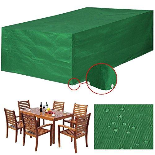 Yaheetech Abdeckung Gartenmöbel Schutzhülle für Gartentisch und Stühle Wasserdicht Möbel Abdeckhaube XL-245 x 165 x 55 cm