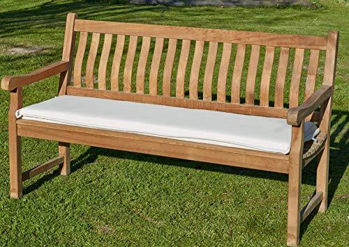 Bankpolster Destiny 130 cm Natur Kissen Auflage für Gartenbank Bank Polster