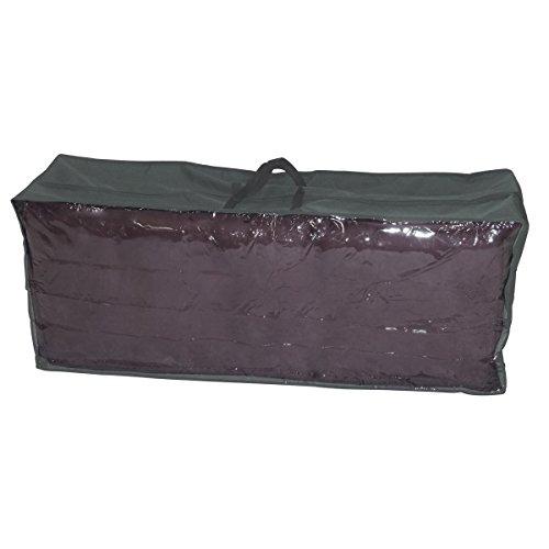 greemotion Schutzhülle für Garten-Kissen - Tragetasche Gartenpolster Grau - Aufbewahrungstasche für Gartenkissen aus Polyester - Hülle Loungekissen 125x50x32 cm