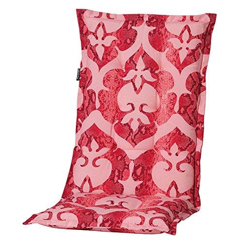 6 Hochlehner Auflagen 120 x 50 x 6 cm Madison Maree rot Gartenpolster