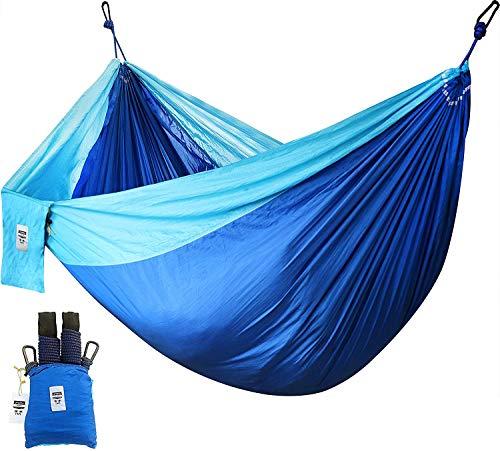 Nylon-Hängematte - Ultraleicht Outdoor Hängematte - Unterstützt bis zu zwei Personen oder 400 Lbs - Für Reise Garten Balkon Strand Camping Hängematte - von Utopia Home