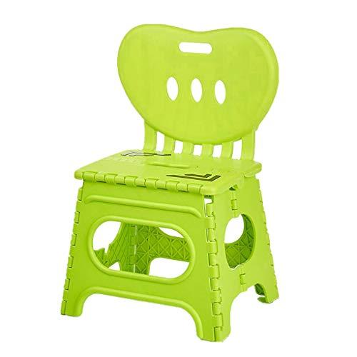 B Blesiya Tragbarer Klappbarer Klapphocker Klappstuhl Hocker Stuhl mit Rückenlehne - Grün-L