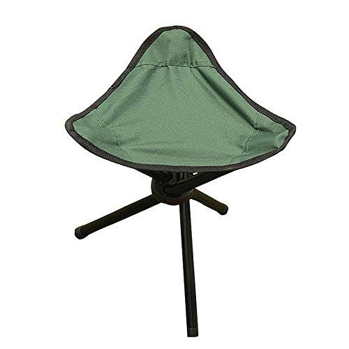 Chlove Outdoor Stuhl Dreibein Hocker Klappstuhl Faltstuhl Angelsitz für Angeln Camping Grün
