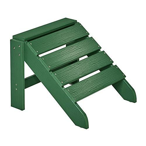 NEG Design Adirondack Fußbank Marcy grün Westport-HockerFußhocker aus Polywood-Kunststoff Holzoptik wetterfest UV- und farbbeständig