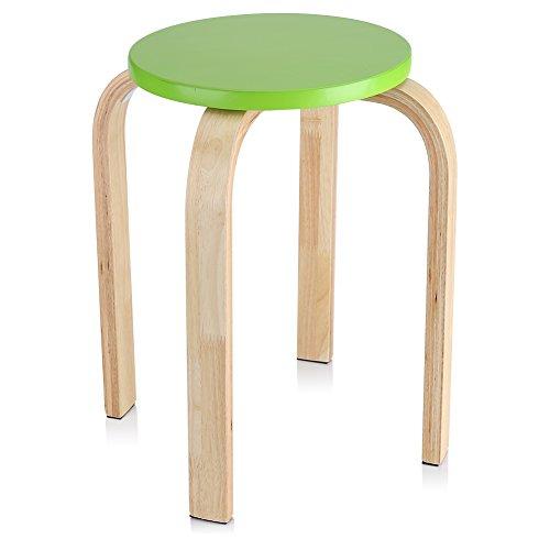Zerone Hocker Sitzhocker Holzhocker Stapelhocker Küchenhocker Wohnzimmer Möbel Dekoration Farbe optional Grün