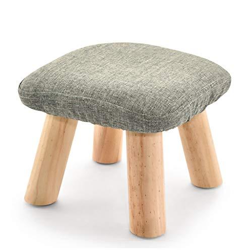XiuXiu Hocker Mode kreative massivholz Stoff Sofa Bank Platz hocker pilz hocker niedrigen hocker Schuhe Schuhe Bank Color  Dark Gray