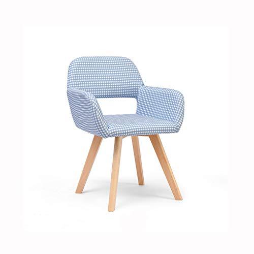 Hocker- Fester hölzerner Schemel Freizeit-Stuhl für eine Vielzahl von Gelegenheiten HG Farbe  Blau und weiß