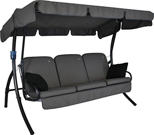 Angerer 4190013631 Comfort Style Hollywoodschaukel Style Grau 3-Sitzer210 x 145 x 160 cm