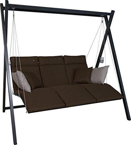 Angerer Relax Hollywoodschaukel 3-Sitzer Smart coffee 220 x 150 x 210 cm 7000270