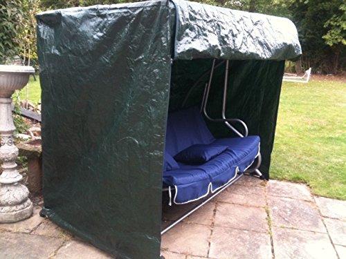 Garten Mile groß Schwere Pflicht UV-beschichtet wetterfest 3-Sitzer Hollywoodschaukel Bezug mit Reißverschlüssen Tough strapazierfähigem Oxford Nylon Material für Winter Garten Möbel Schutz